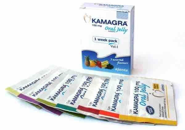 En la imagen, caja y empaque Kamagra Oral Jelly